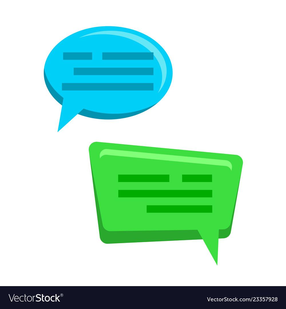 Chat bubbles icons web message dialog