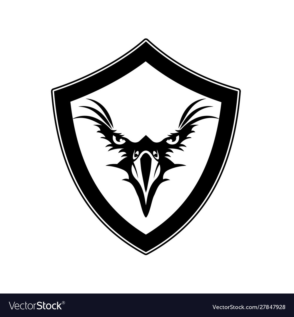 Eagle design black with shield