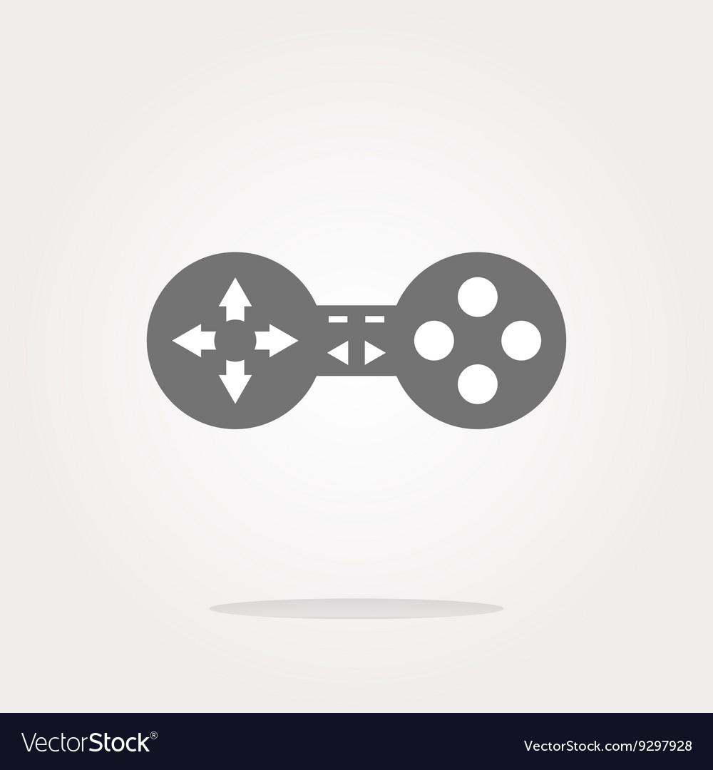 Game controller web icon button isolated