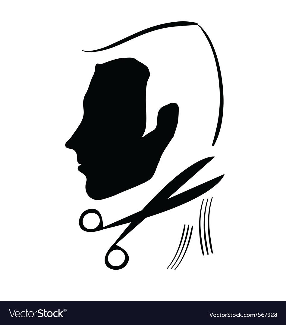 Hair cutting symbol