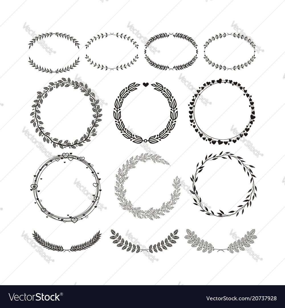 Laurels and wreaths design elements