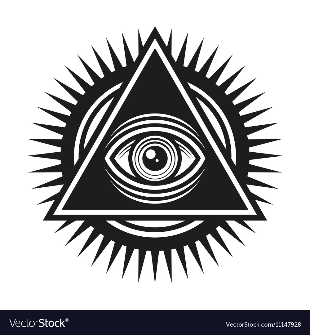 Masonic Symbol All Seeing Eye Inside Pyramid