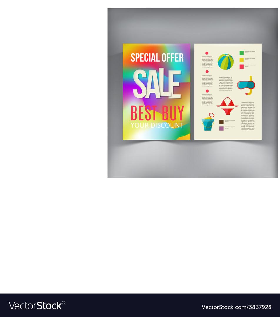 sale brochure flyer design template royalty free vector