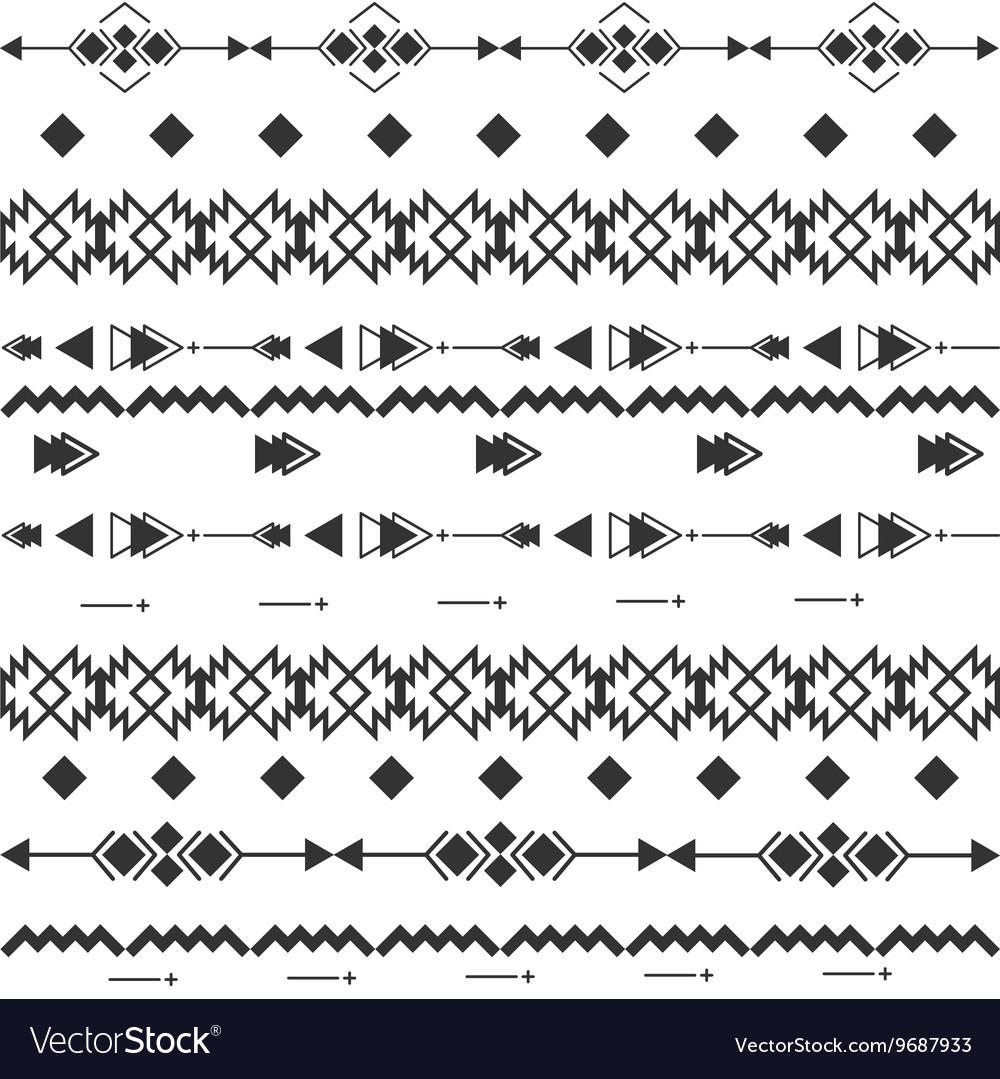 Black and white navajo aztec seamless