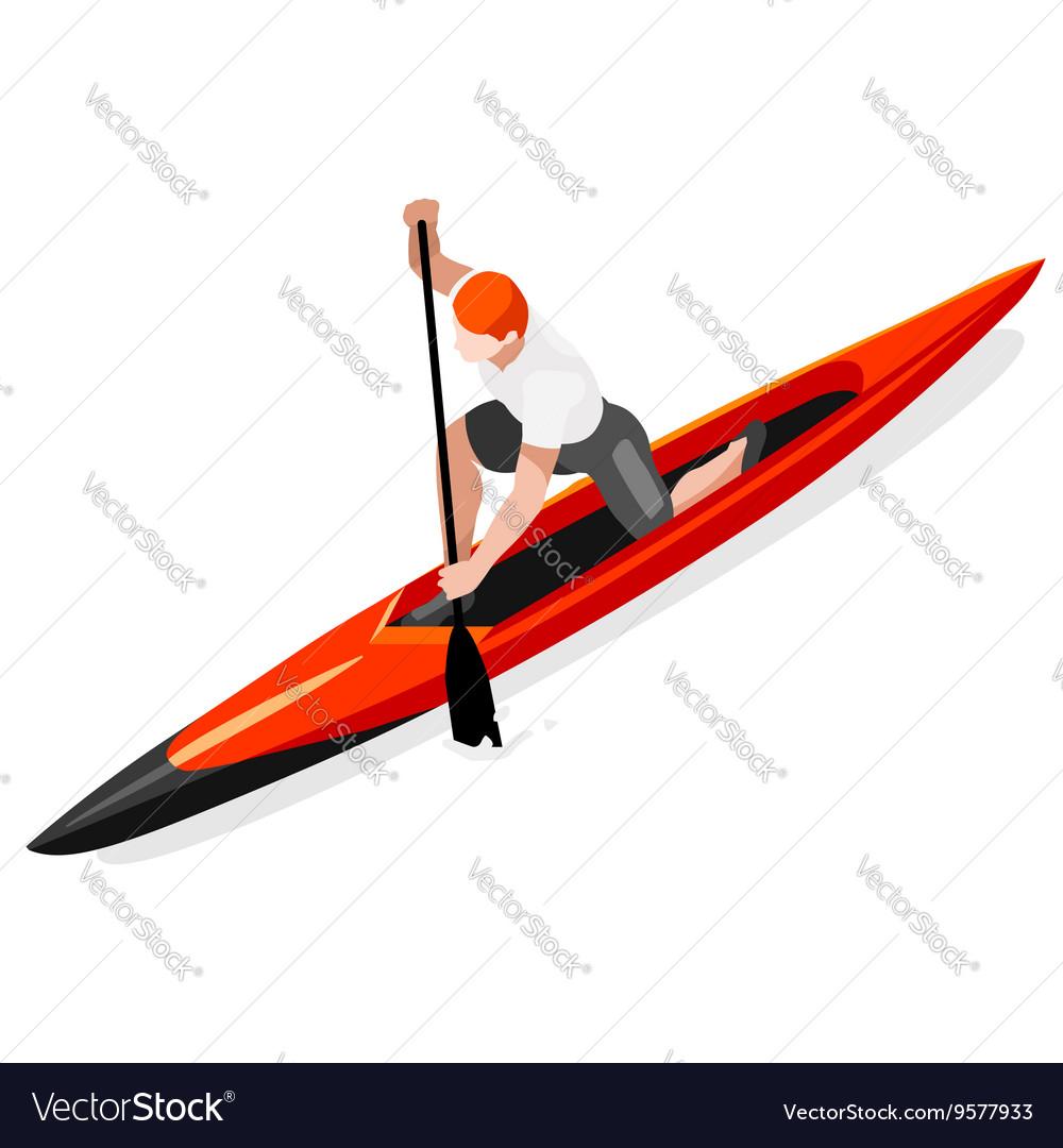 Canoe Sprint 2016 Sports Isometric 3D