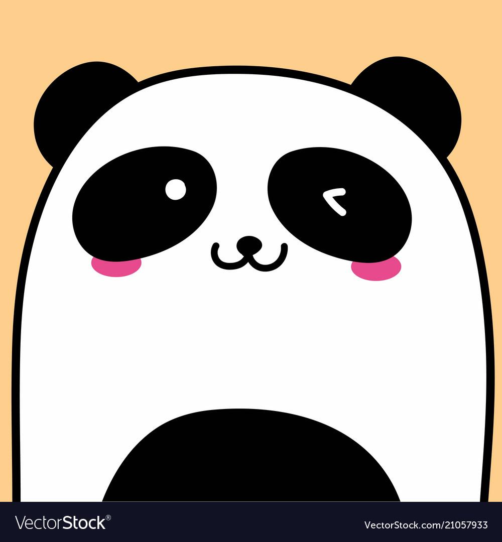 Cute panda background