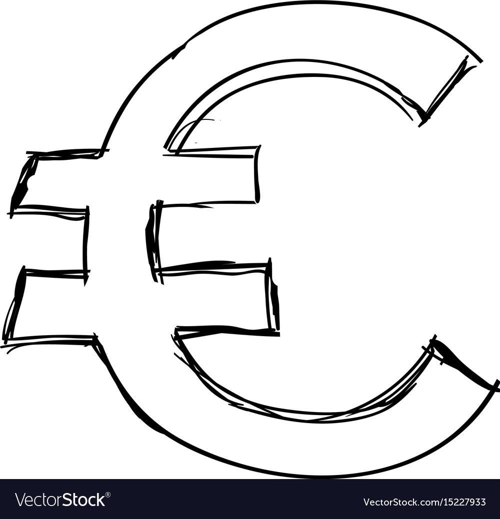 Euro Money Symbol Royalty Free Vector Image Vectorstock