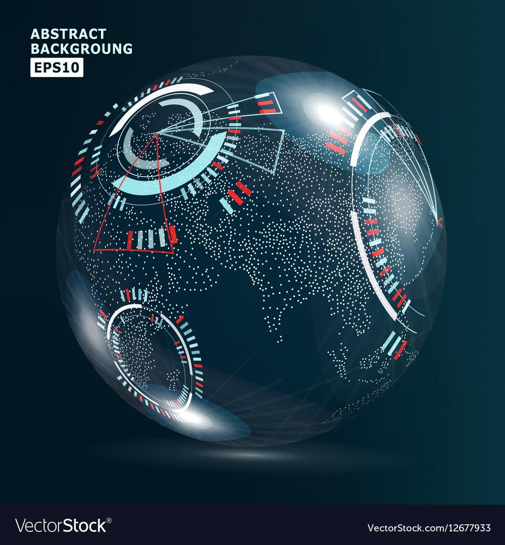 Futuristic Globalization Interface Earth Science