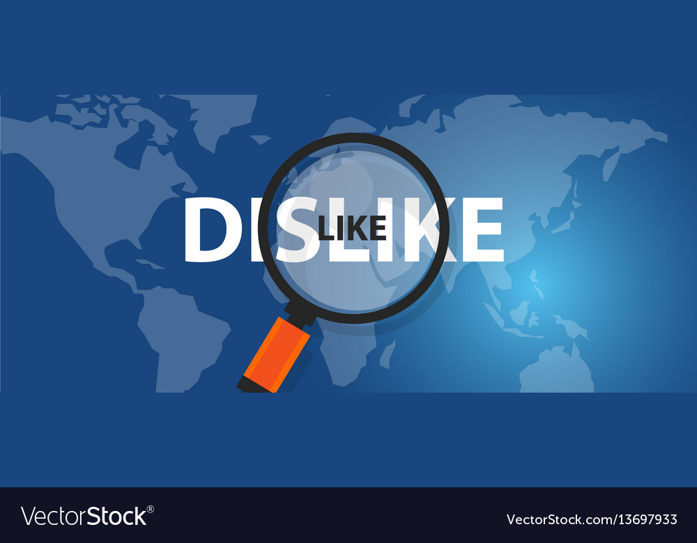 Like dislike concept of thinking analysis world