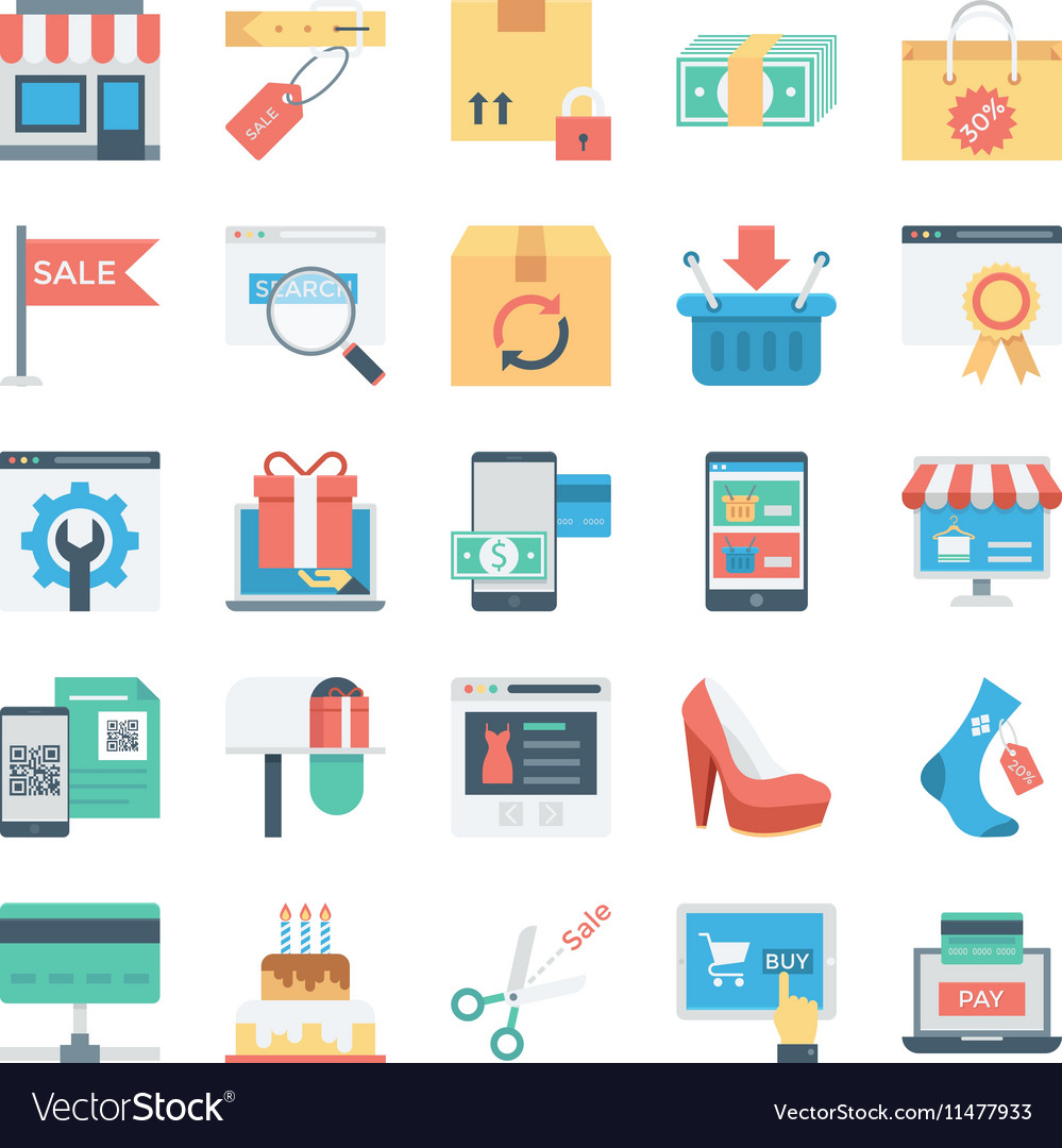 Shopping and E Commerce Colored Icons 7