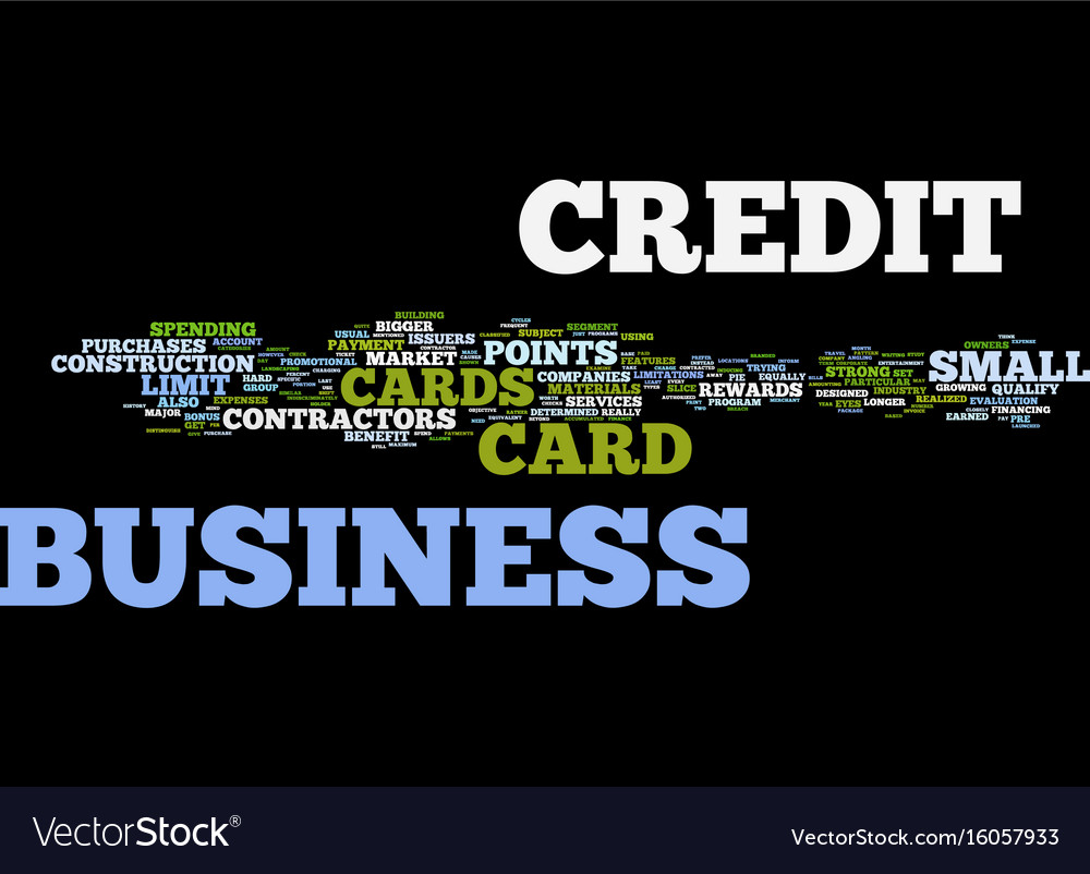 The lowdown on contractors business credit cards vector image colourmoves