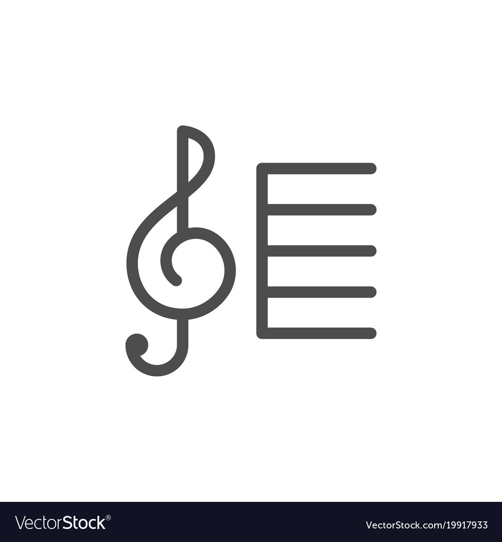 Treble clef line icon