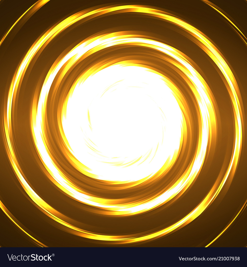 Abstract technology circles glowing spiral