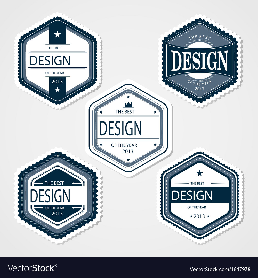 awesome badges template royalty free vector image