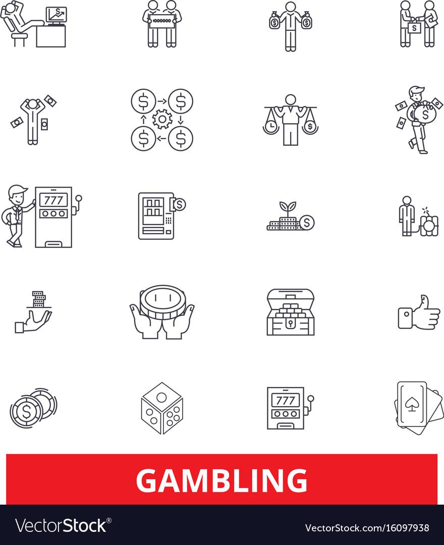 Gambling casinopoker roulette slot machine vector image