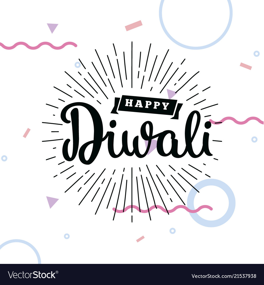 Happy diwali typography