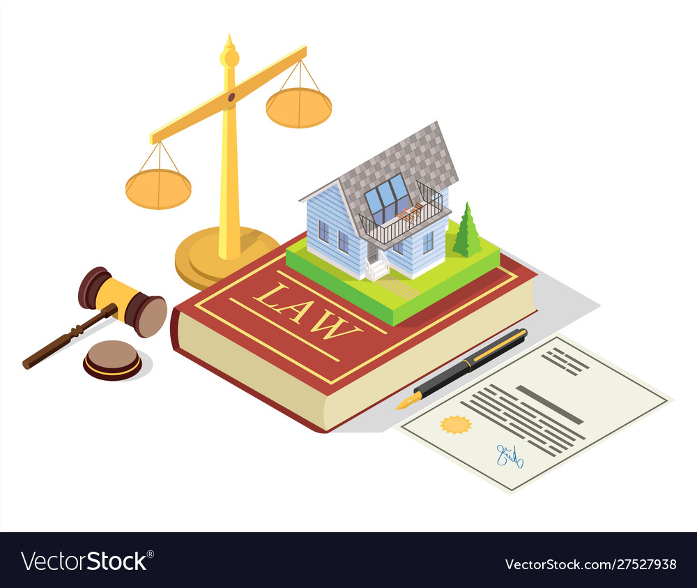 Real estate law concept isometric