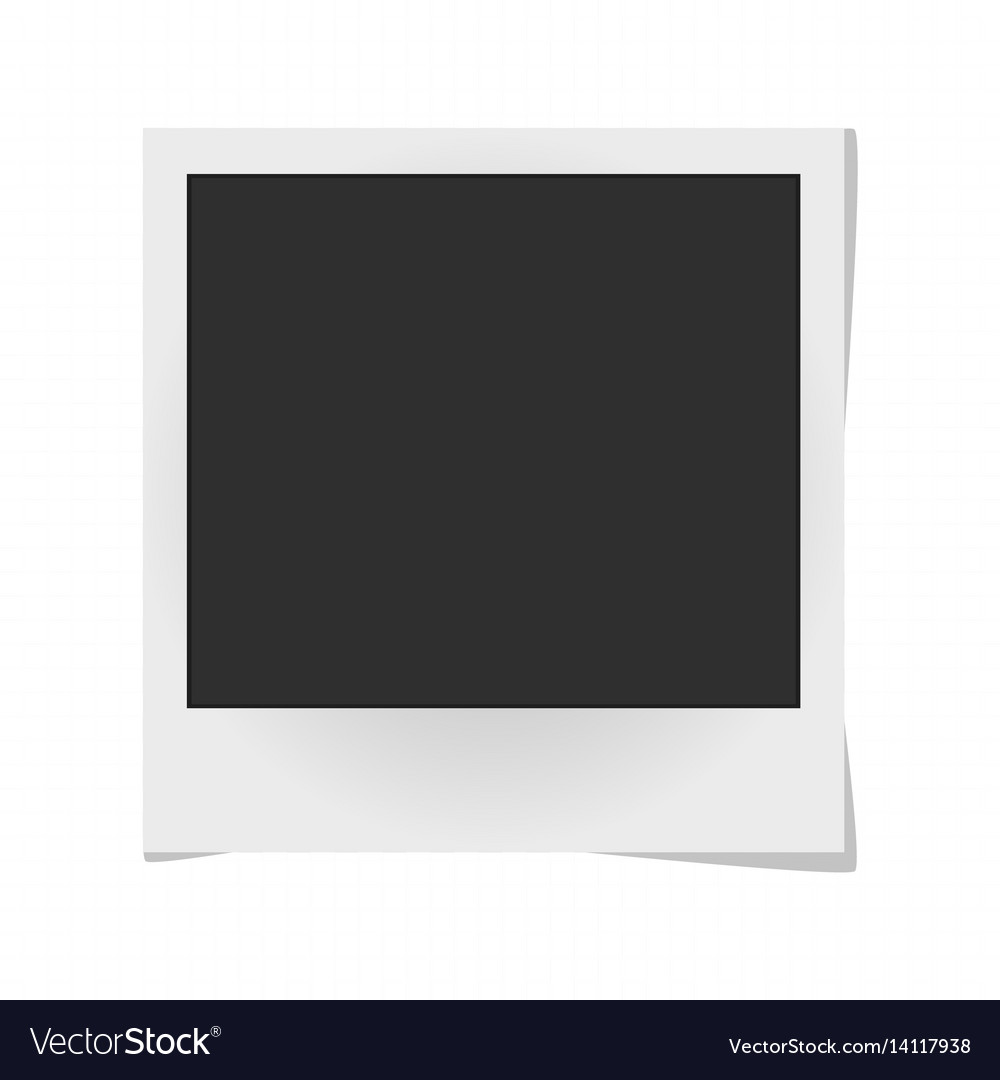 Realistic photo frame isolated on white template