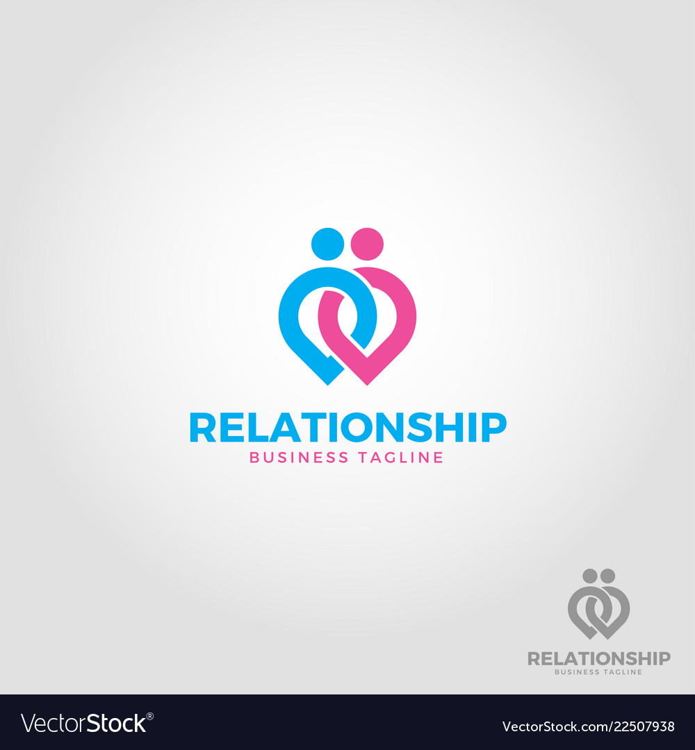 Relation ship - lovely couple logo template