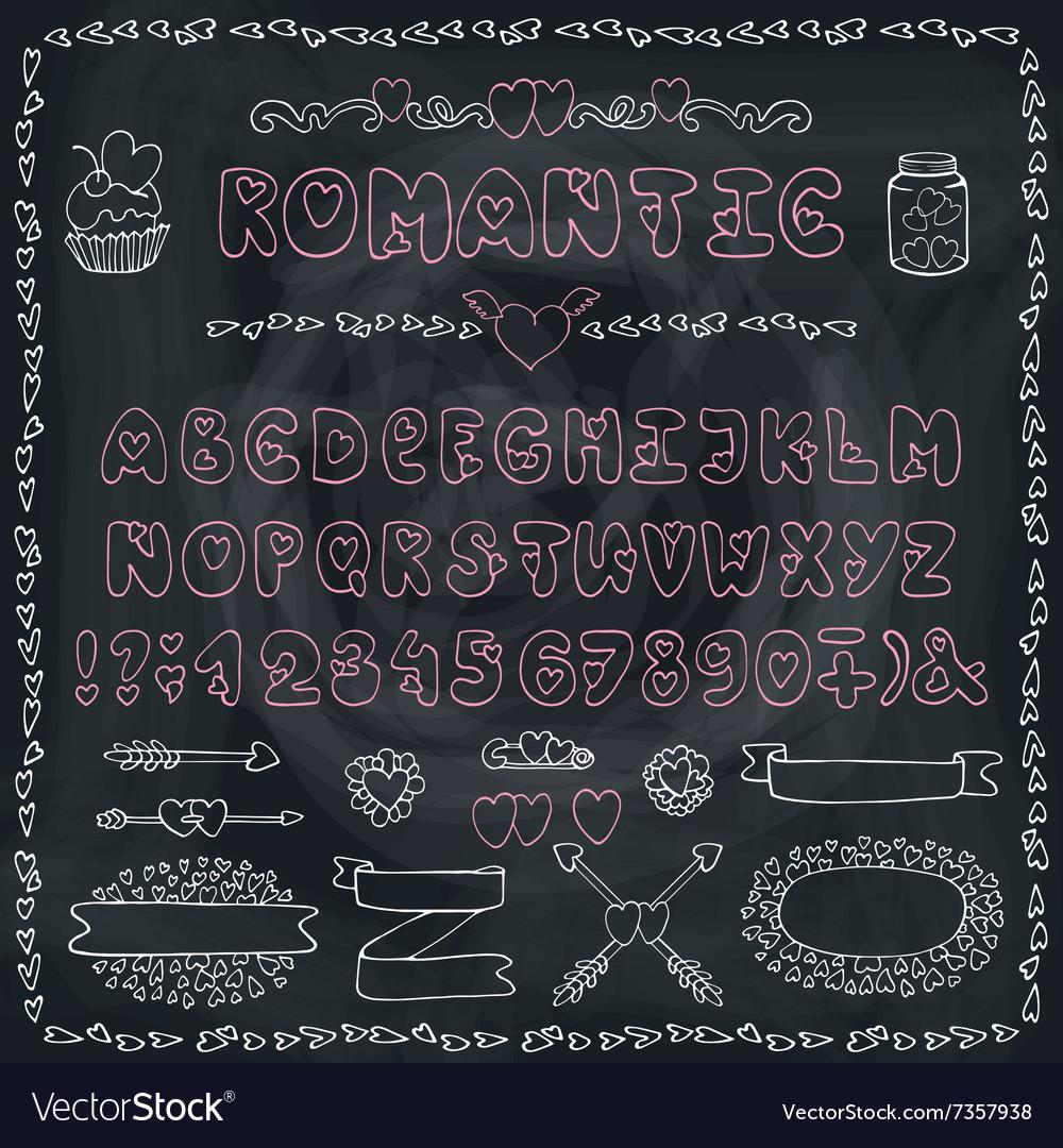 Romantic AlphabetHeart FontABC Lettersdecor