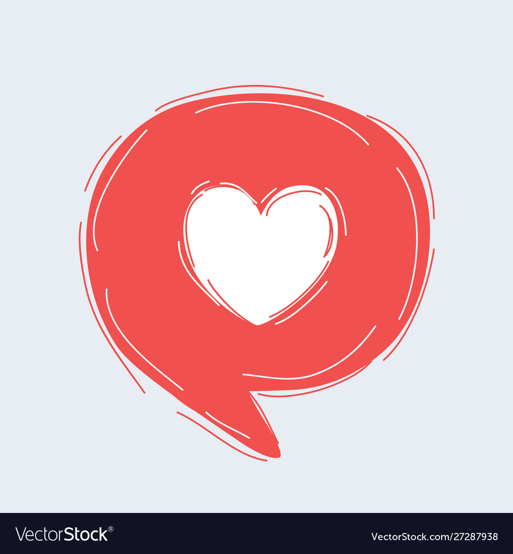 Speech bubble with heart icon
