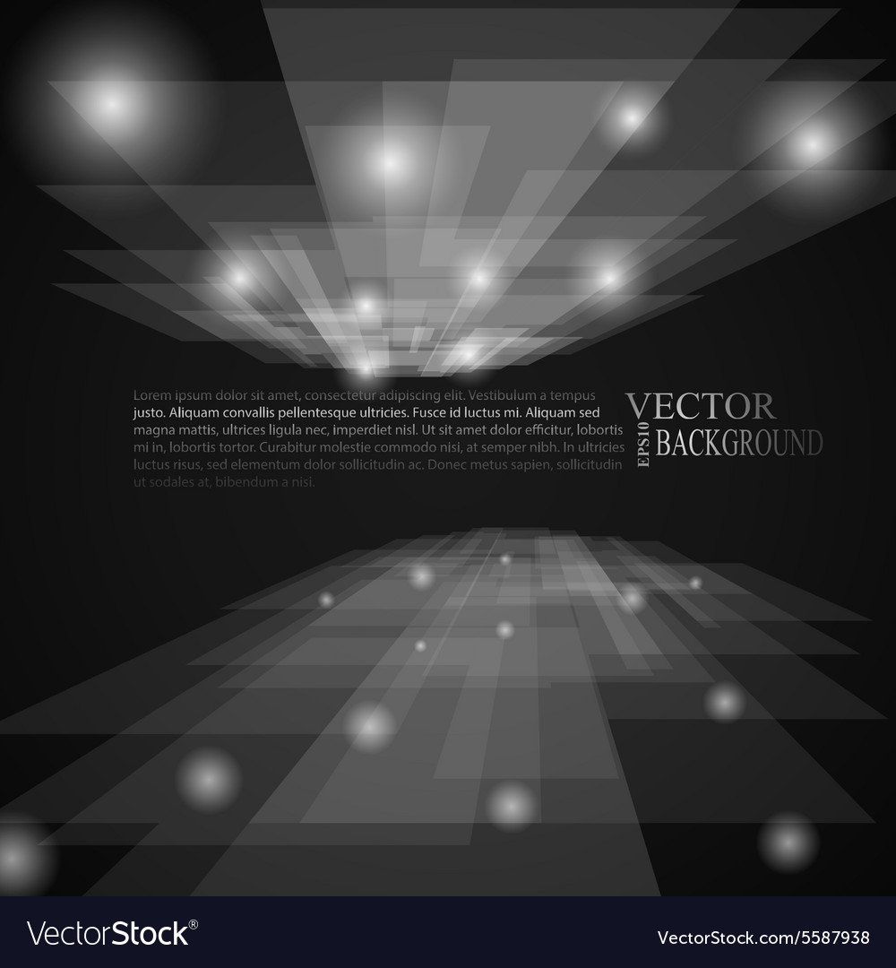 Stylish black and white rays abstract mosaic