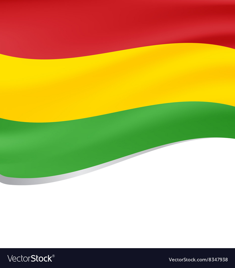 Waving flag of Bolivia isolated on white vector image