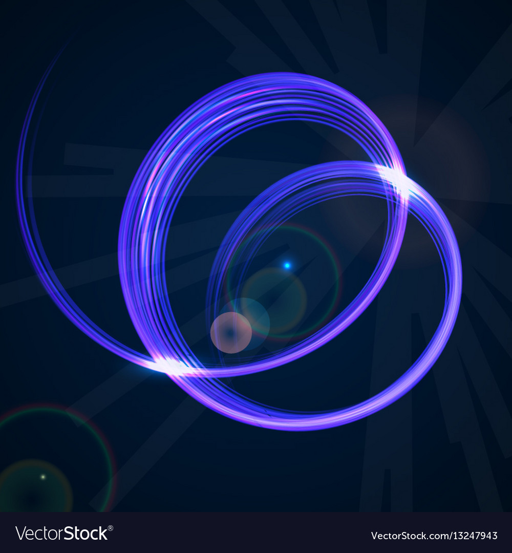 Abstract technology background with blue spiral