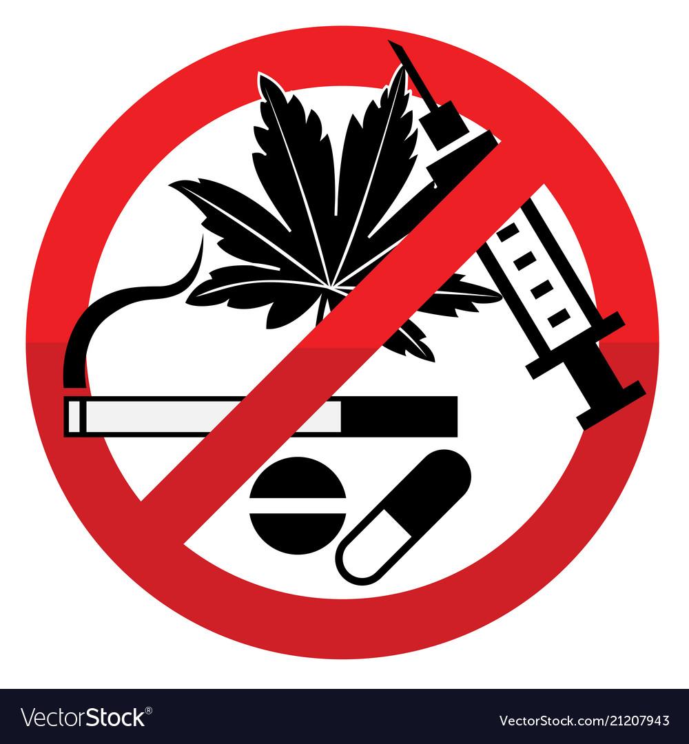 Against drug abuse day sign 01