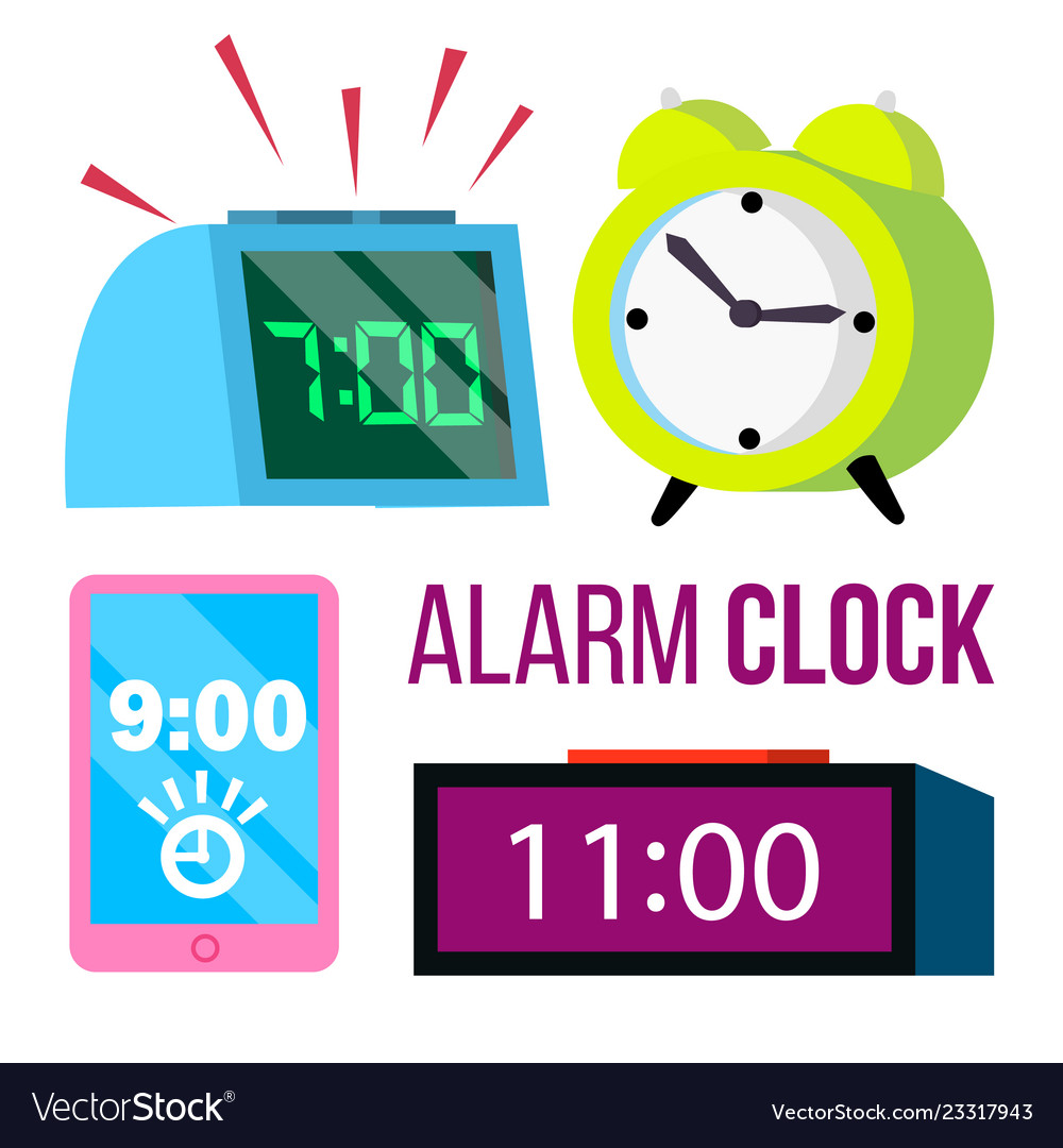 Alarm clock set time early wake up