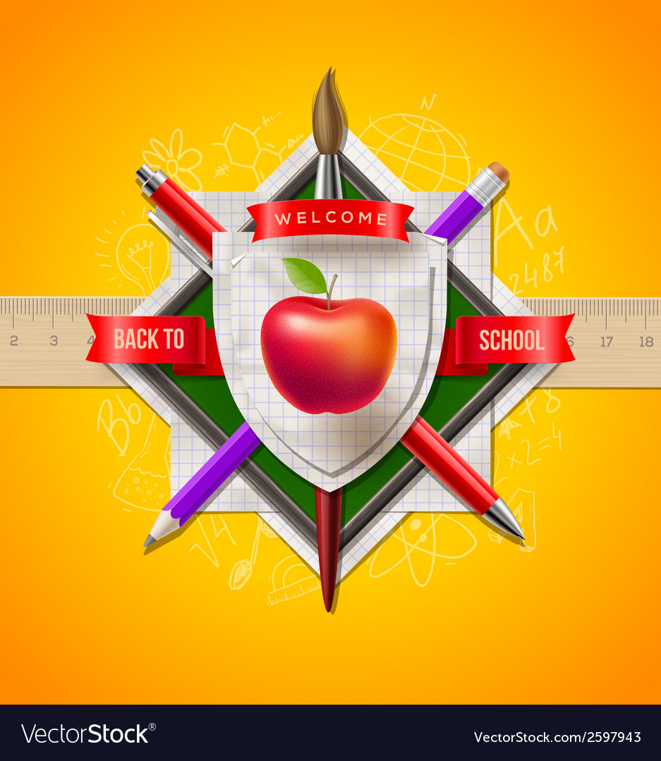 Back to school coat of arms