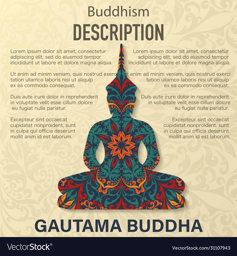 Buddha floral pattern background
