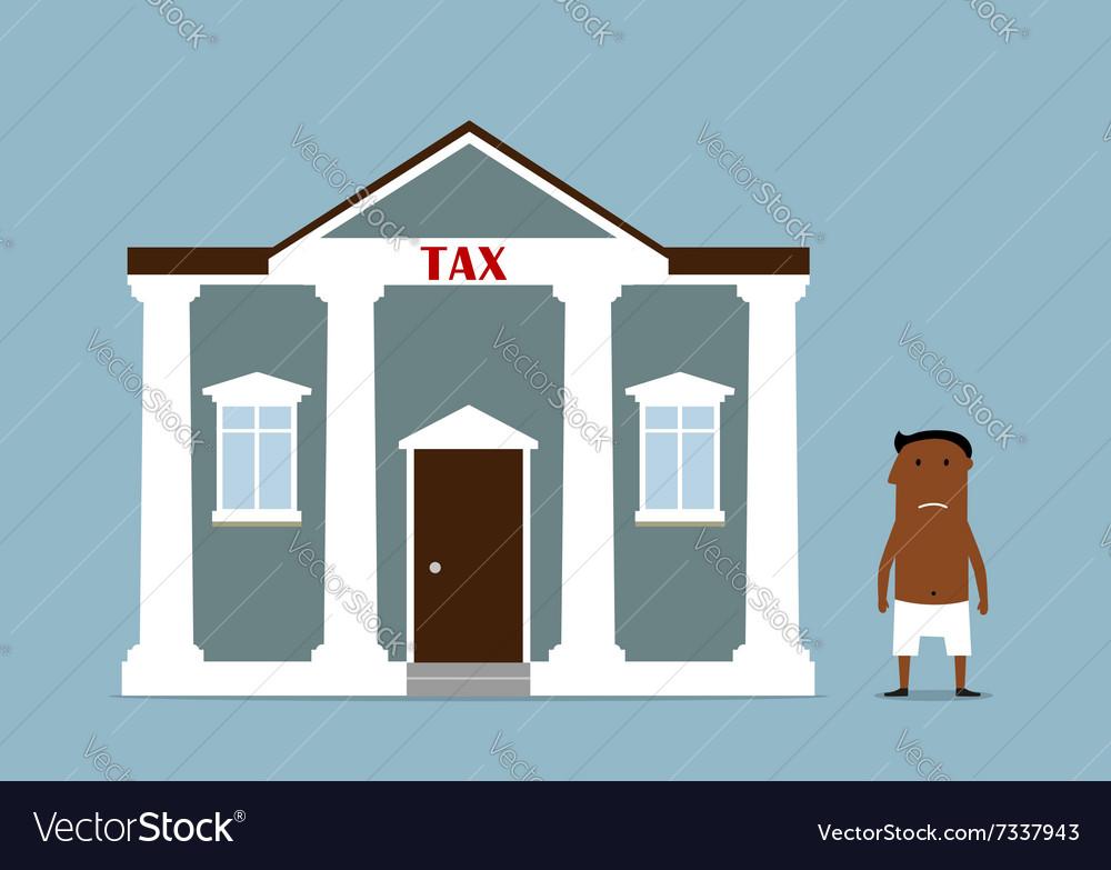 Businessman turned bankrupt after taxes vector image