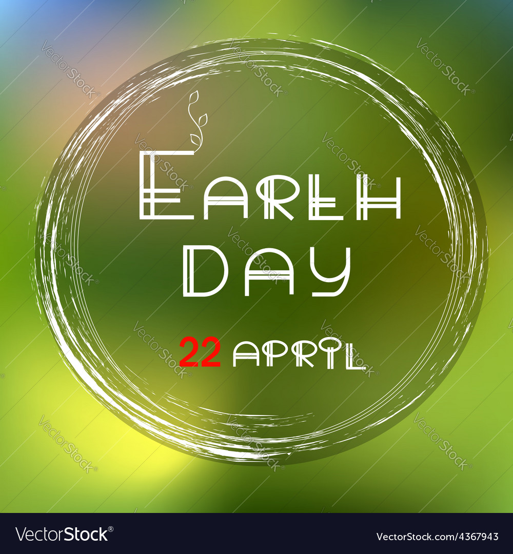 Earth day green icon vector image
