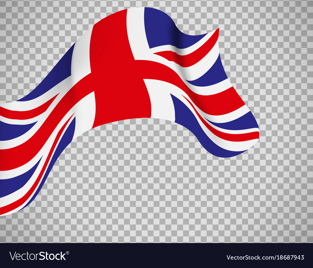 england flag on transparent background royalty free vector