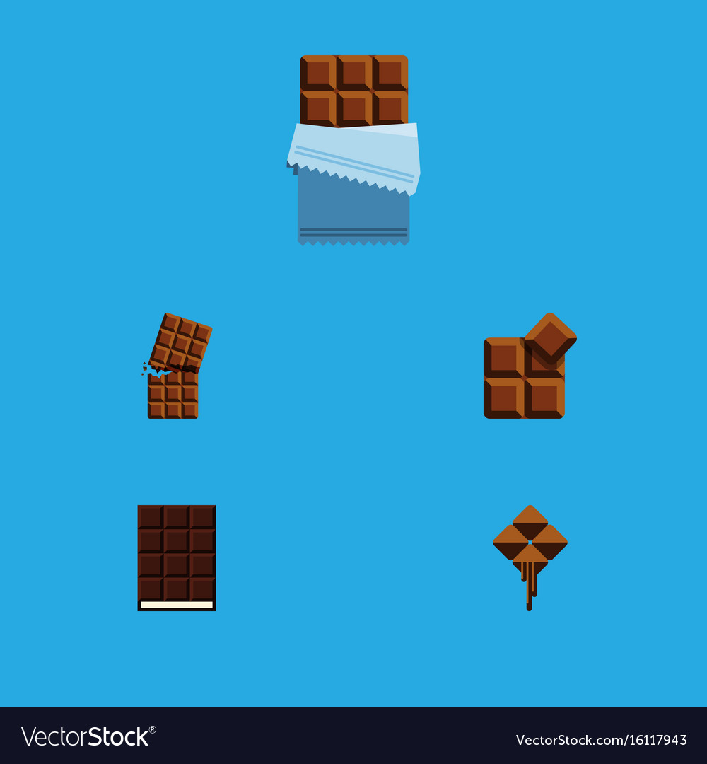Flat icon sweet set of wrapper delicious cocoa