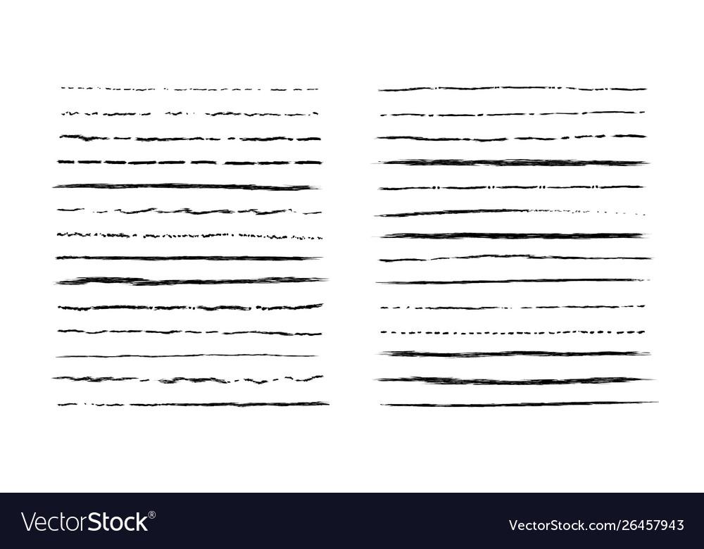 Hand drawn doodle lines vintage underline border
