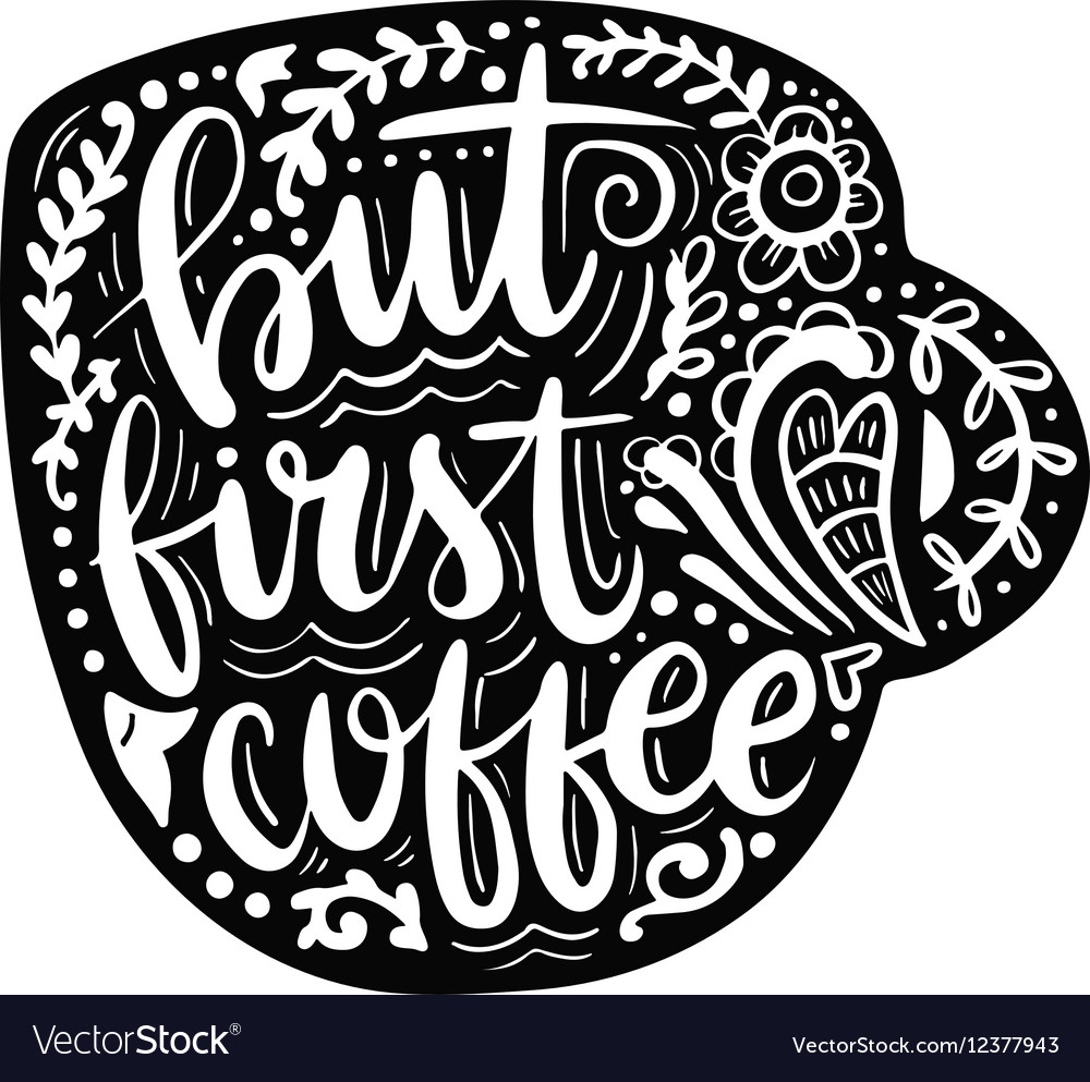 Hand drawn lettering on white background vector image