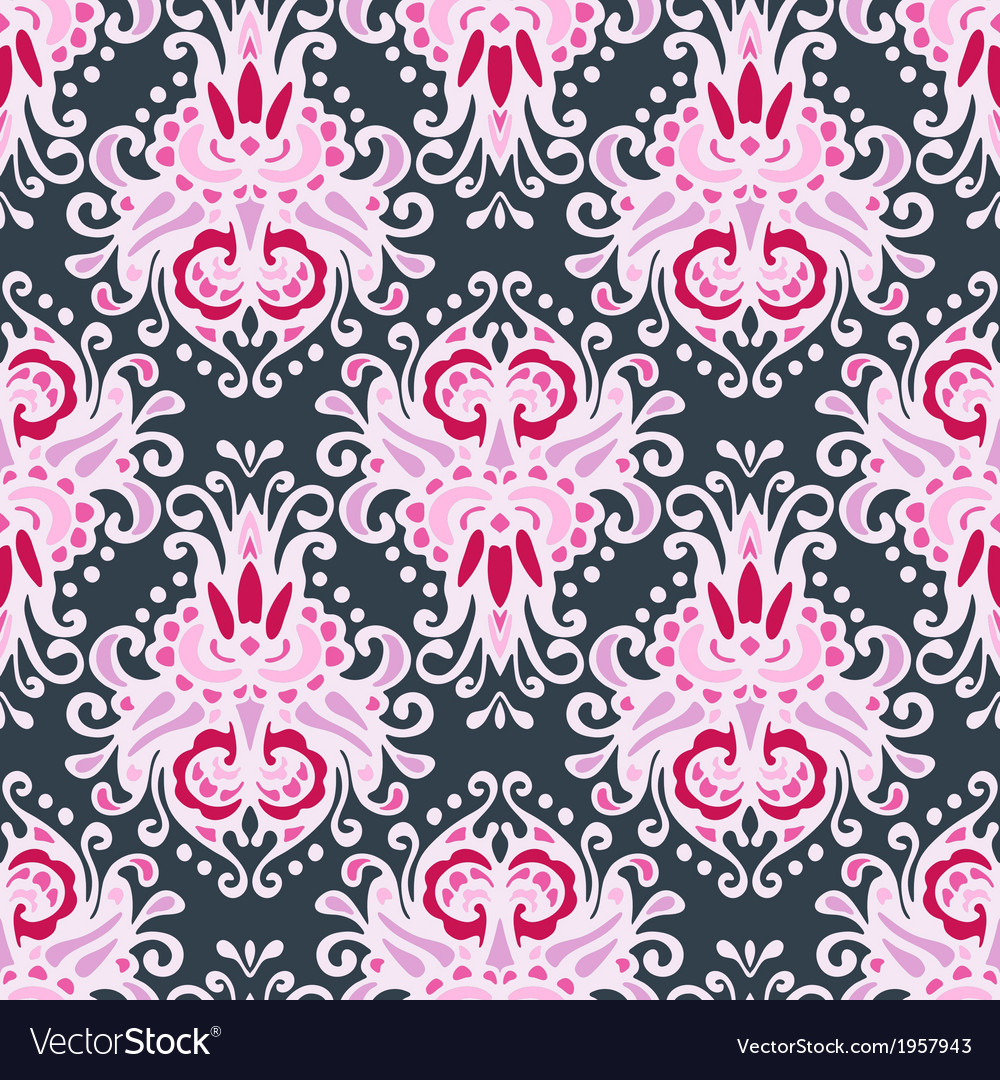 seamless pink luxury damask design royalty free vector image