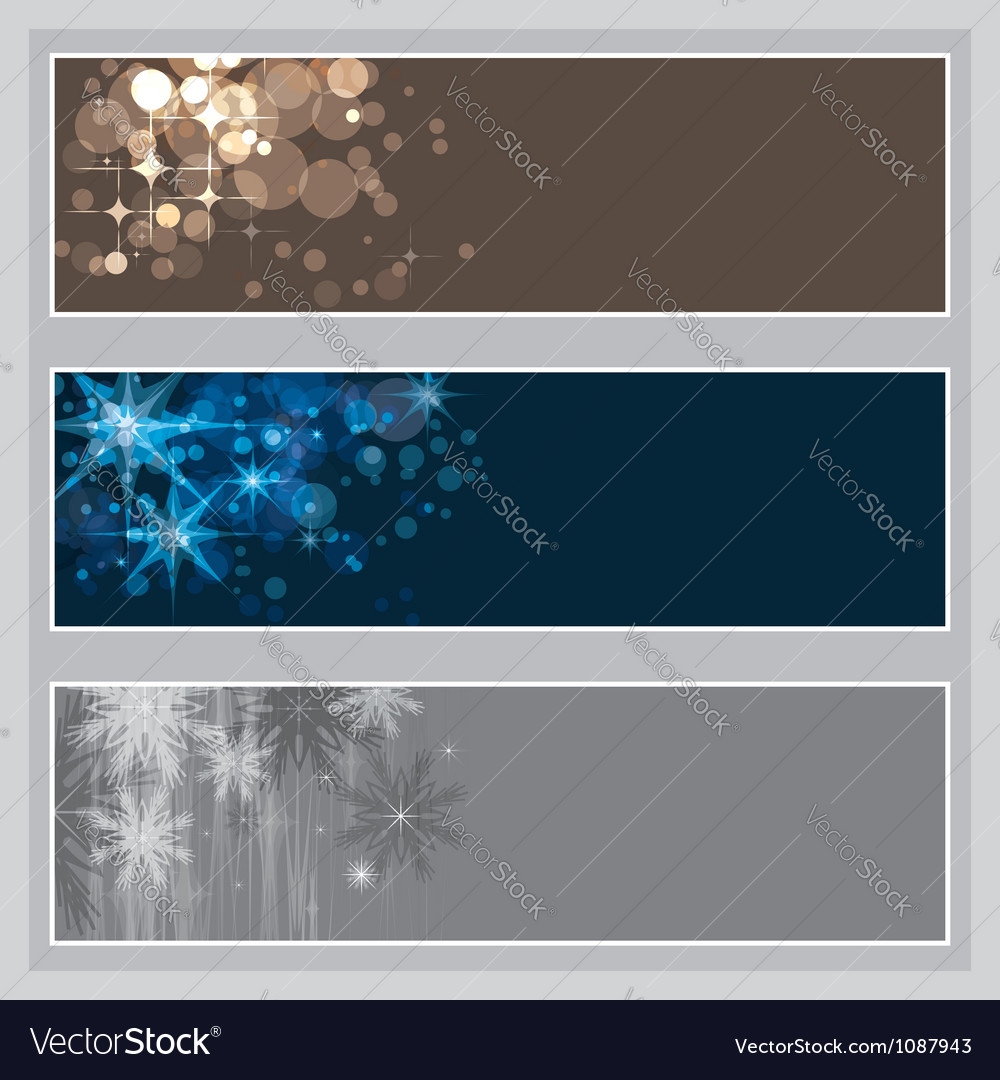 Set of Christmas banners vector image