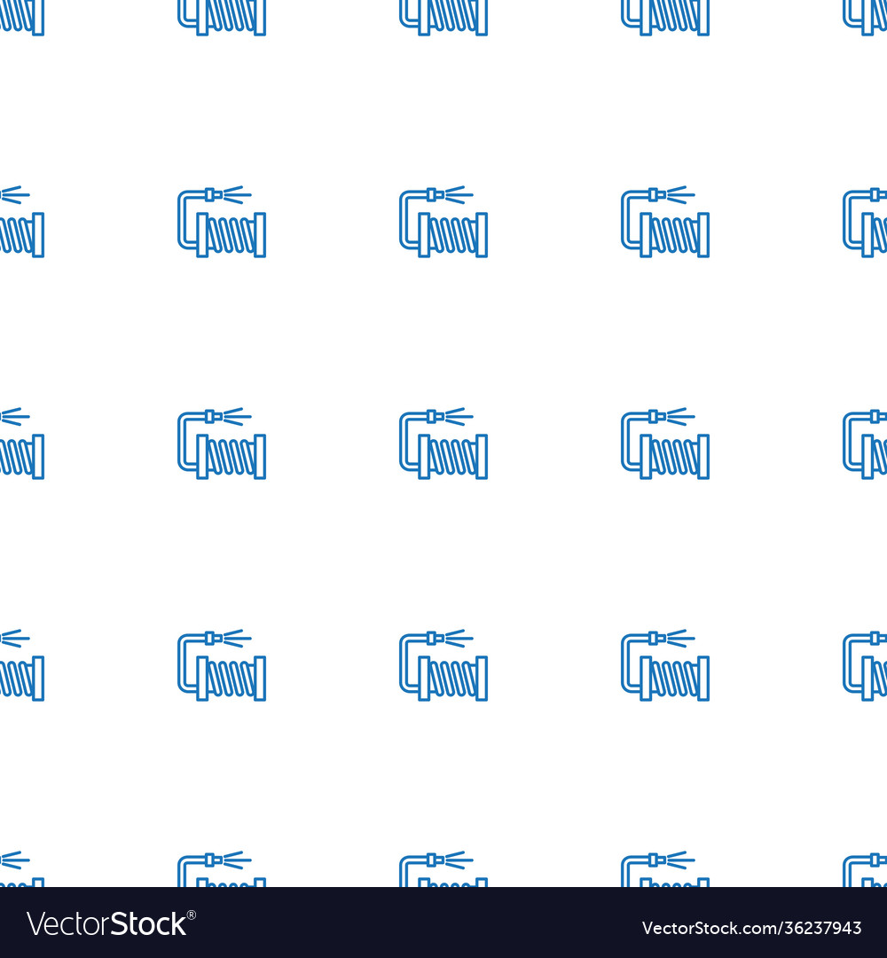 Water hose icon pattern seamless white background