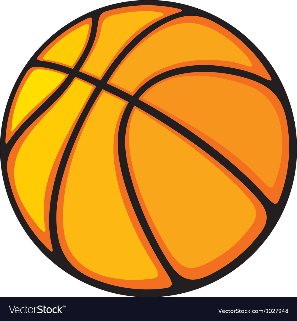 Basketball ball Royalty Free Vector Image - VectorStock