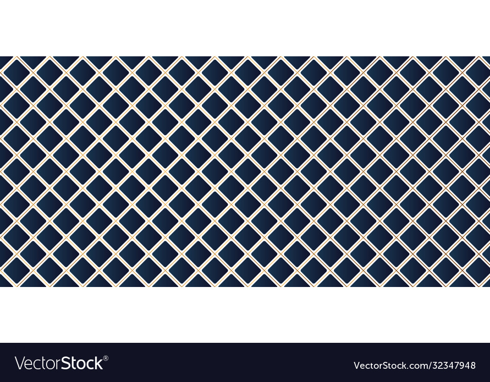 Blue square geometric pattern with golden line
