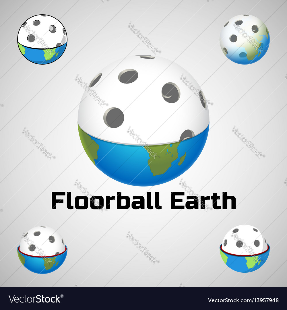 Floorball earth logo for the team and the cup