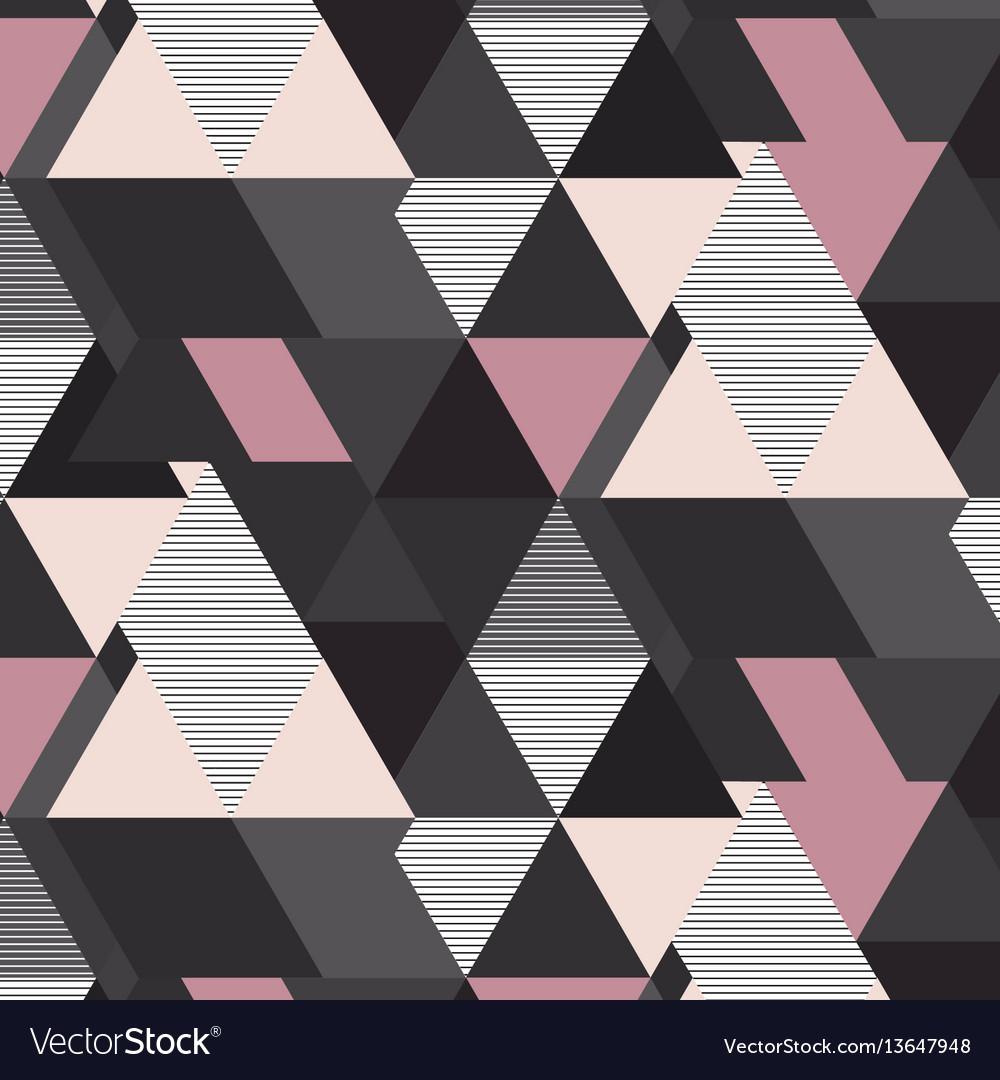 Geometrical mosaic pattern grey pink