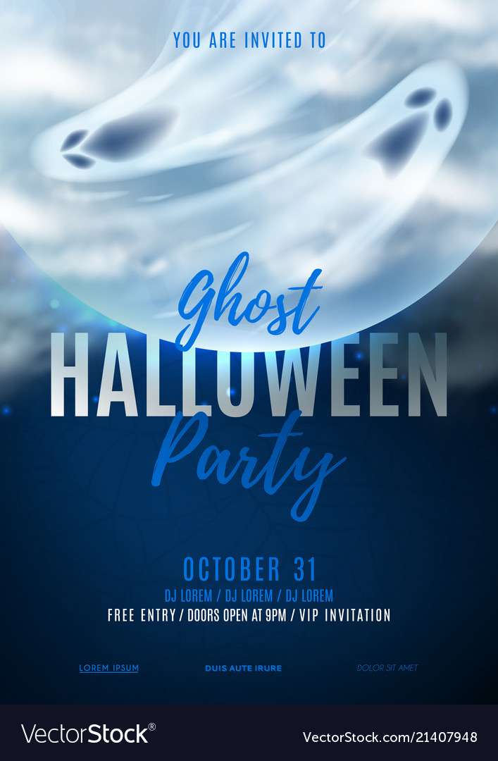 Halloween party poster invitation