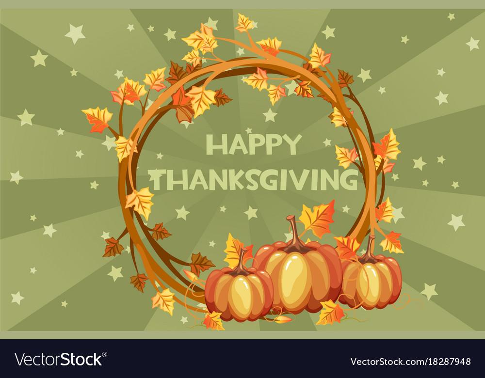 Happy thanksgiving cards orange