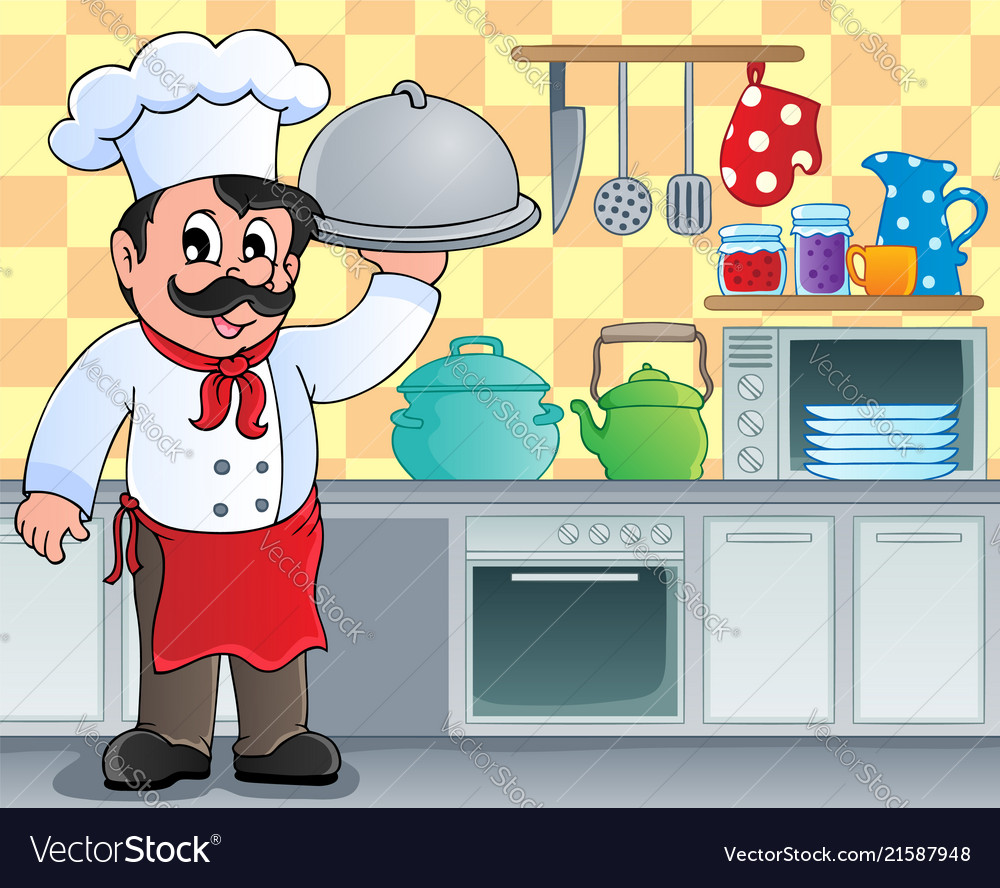 Kitchen theme image 3 Royalty Free Vector Image