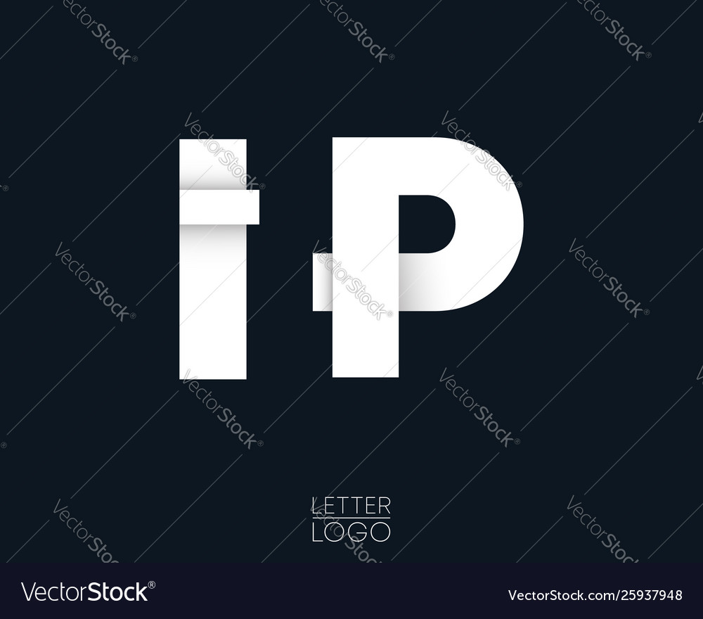 Letter i and p template logo design