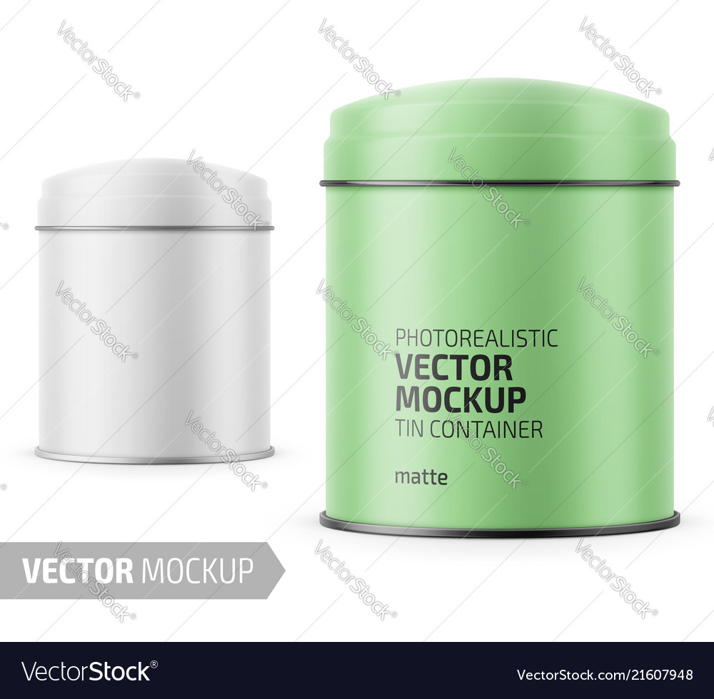 Round matte tin can template with label